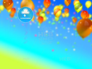 colorful ballons in the sky - HEBSTREITS