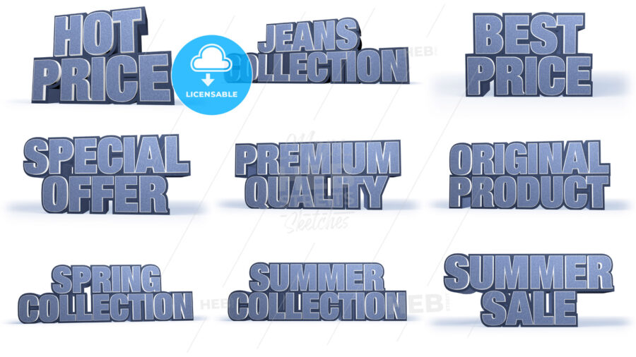 Jeans Collection Sales Campaign Titles - Hebstreits