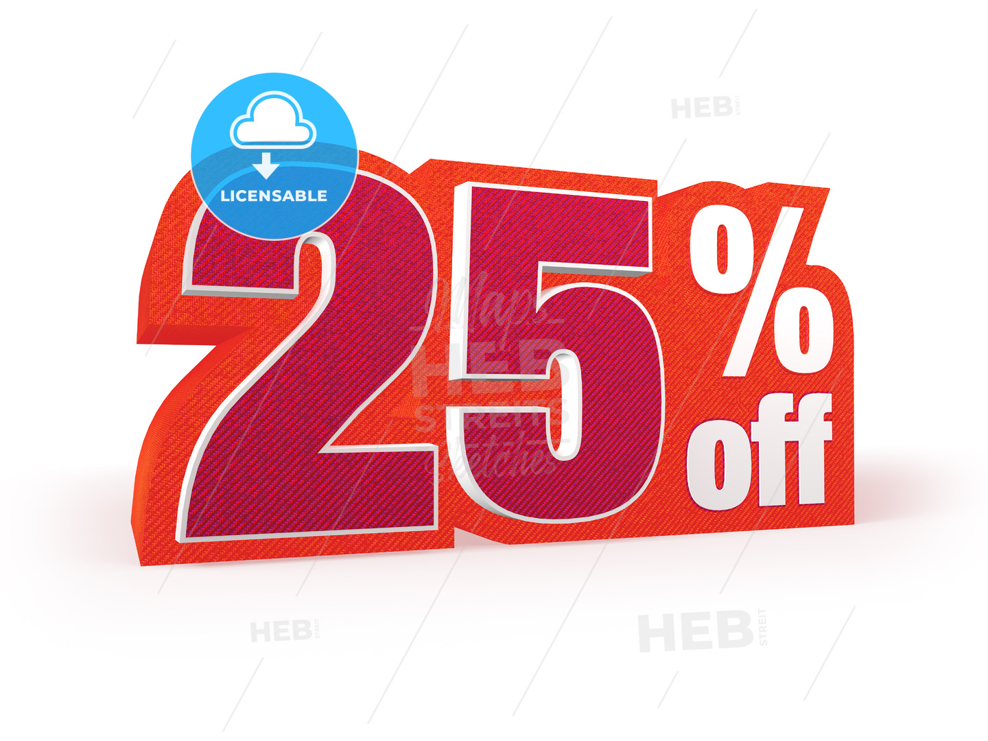 25 percent off red wool styled discount price sign - Hebstreits
