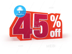45 percent off red wool styled discount price sign - Hebstreits