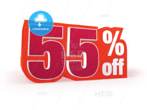 55 percent off red wool styled discount price sign - Hebstreits