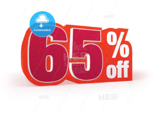 65 percent off red wool styled discount price sign - Hebstreits