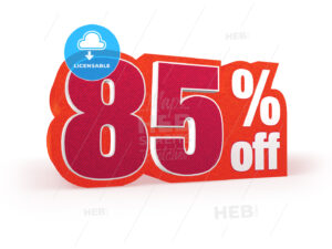 85 percent off red wool styled discount price sign - Hebstreits