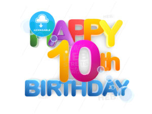 Happy 10th Birthday Title, light - Hebstreits