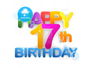 Happy 17th Birthday Title light - Hebstreits