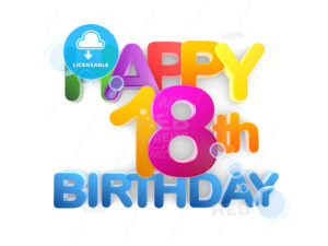 Happy 18th Birthday Title light - Hebstreits