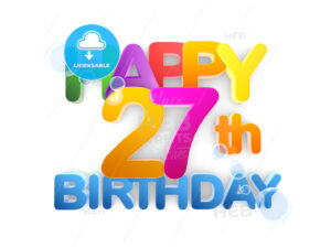 Happy 27th Birthday Title, light - Hebstreits