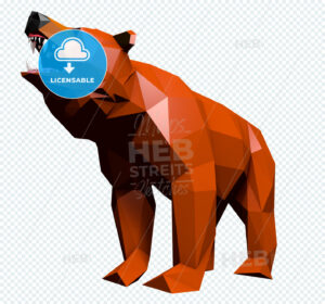 Low Poly Bear cries - Hebstreits