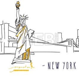 New York Skyline Build-Up Animation with Typography in Motion for Digital Greeting Card and Banner Advertising.