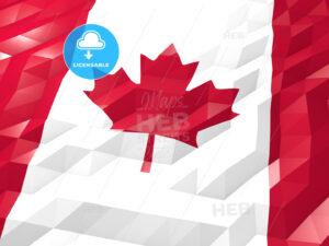 Flag of Canada 3D Wallpaper Illustration - Hebstreits