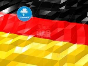 Flag of Germany 3D Wallpaper Illustration - Hebstreits