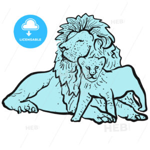 Old Lion and Young Lion - Hebstreits