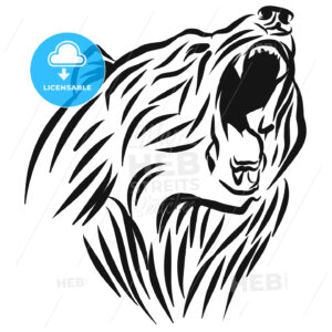 A roaring Bear head logo. - Hebstreits