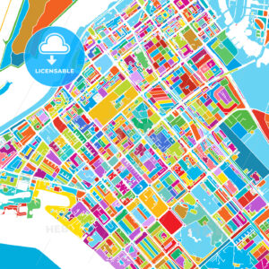 Abu Dhabi Colorful Vector Map - HEBSTREIT's Sketches