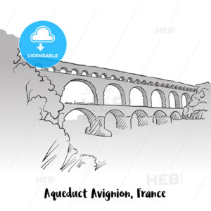 Aqueduct Avignion, France Greeting Card Design - Hebstreits