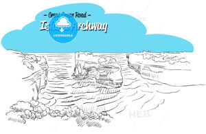 Archway Island Great Ocean Road Australia, Sketch - Hebstreits