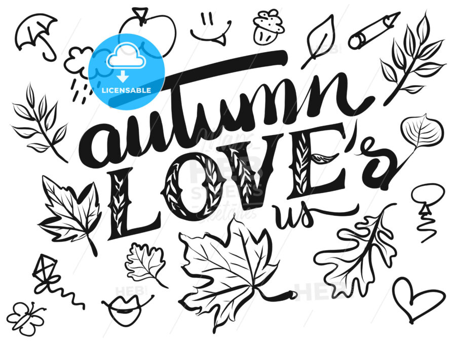 Autumn Loves us Typo and Icons - Hebstreits