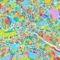 Berlin Colorful Vector Map - Hebstreits