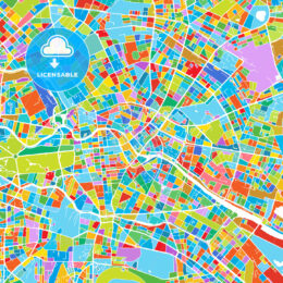 Berlin Colorful Vector Map