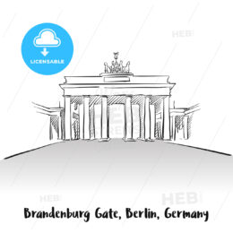 Brandenburg Gate Berlin Greeting Card