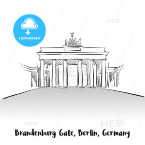 Brandenburg Gate Berlin Greeting Card - Hebstreits