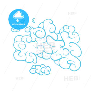 Bright Blue Comic Cloud - Hebstreits