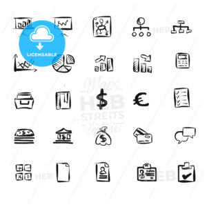 Business Symbol Vector Doodles - Hebstreits
