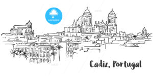 Cadiz Ancient Panorama Artprint - Hebstreits