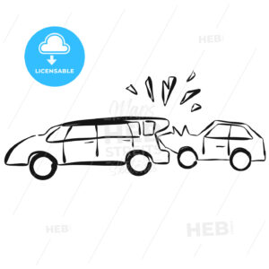 Car Collision Vector Hand drawn Sketch - Hebstreits