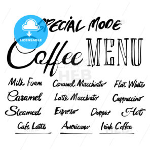 Coffee Menu Hand drawn typography - Hebstreits