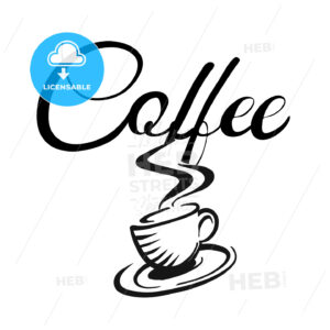 Coffee cup and coffe logo - Hebstreits