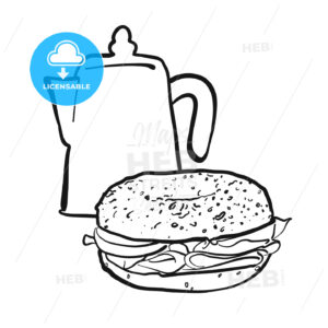 Coffee pot and bagel - Hebstreits