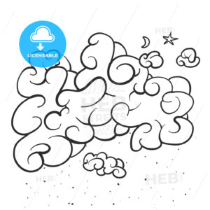 Comic Cloud Background Sketch - Hebstreits