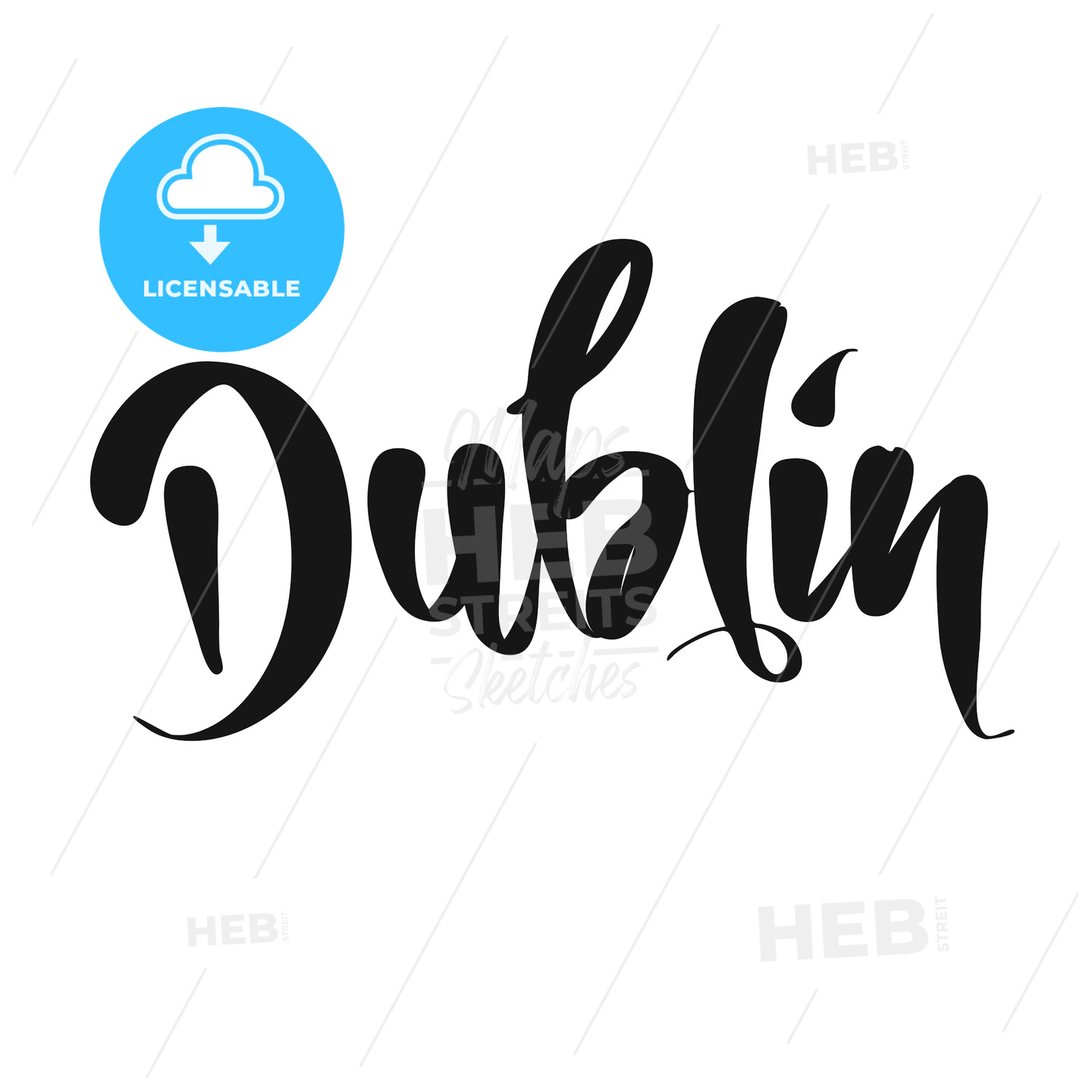 Dublin calligraphic Lettering - Hebstreits