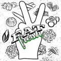 Eat Fresh Lettering on Peace Hand Sign - Hebstreits