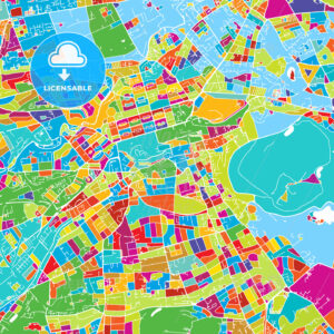 Edinburgh, Scotland, Colorful Vector Map - HEBSTREIT's Sketches