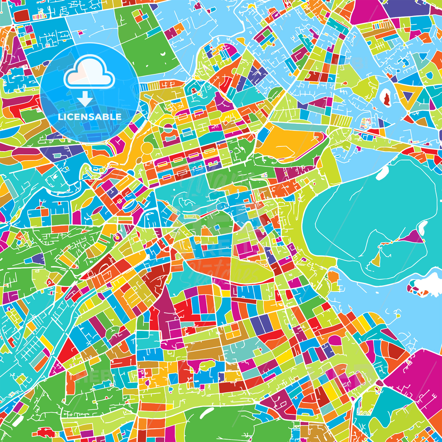 Edinburgh, Scotland, Colorful Vector Map | HEBSTREITS Sketches