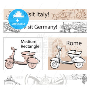 Europe Travel Marketing Banner Layout - Hebstreits