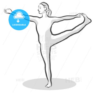 Extended Hand to Big Toe Utthita Hasta Padangustasana Yoga Pose - Hebstreits