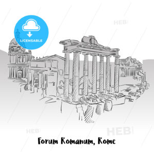 Forum Romanum, Rome, Greeting Card - Hebstreits