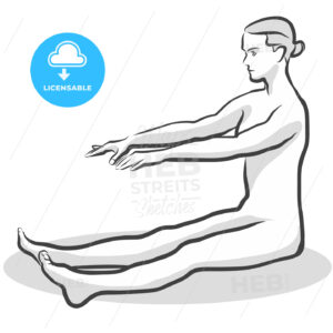 Frankenstein Dandasana Yoga Pose - Hebstreits