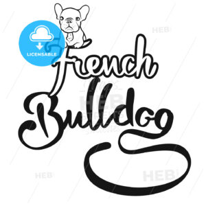 French Bulldog Logo with cute Dog - Hebstreits