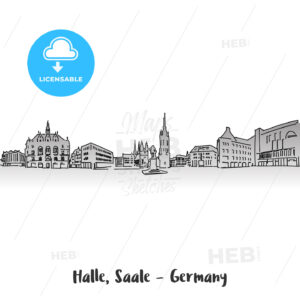 Halle Saale Market Sqare Card Design - Hebstreits