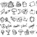 Hand drawn Tiny birthday Party doodles - Hebstreits
