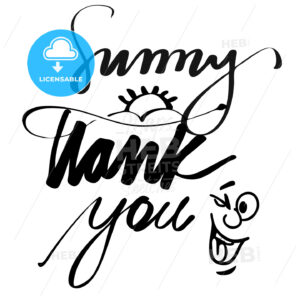 Hand lettered Sunny Thank You - Hebstreits