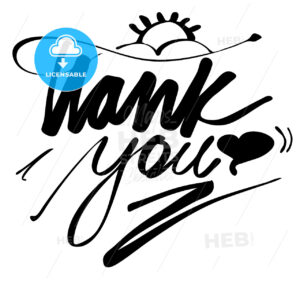 Hand lettered Thank You Greeting Card - Hebstreits