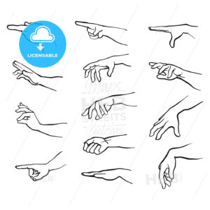 Hands gestures with arm - Hebstreits