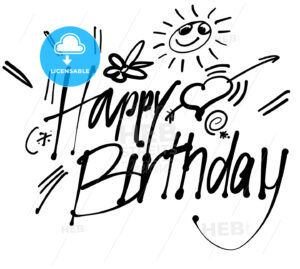 Happy Birthday hand lettering greeting card - Hebstreits