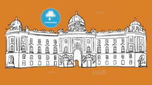 Hofburg Vienna Vector Sketch - Hebstreits