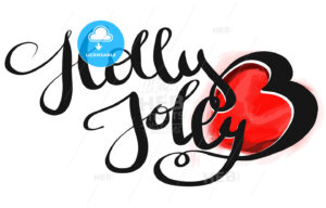 Holly Jolly Christmal Design Text - Hebstreits